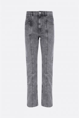 ISABEL MARANT ETOILE: jeans straight-fit Hominy Colore Grigio