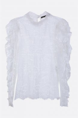 ISABEL MARANT: blusa Tory in pizzo floreale Colore Multicolore