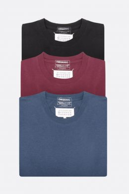 pack 3 t-shirt in cotone organico