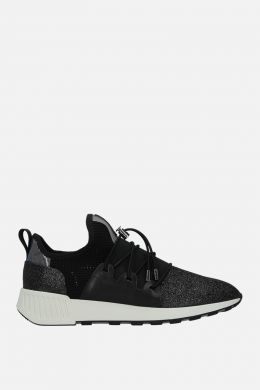 SERGIO ROSSI: sr1 Running sneakers in glitter fabric and mesh Color Black