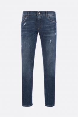 DOLCE & GABBANA: jeans skinny-fit con patch vintage Colore Blu
