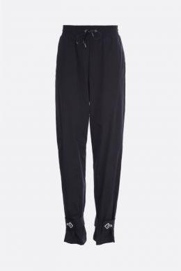 OFF WHITE: pantalone jogging in nylon patch Arrow Colore Nero