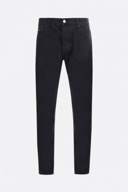 PALM ANGELS: jeans straight-fit stampa Palm Angels Colore Nero