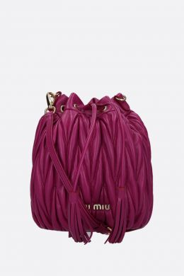quilted nappa leather bucket bag