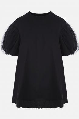 t-shirt in cotone e tulle