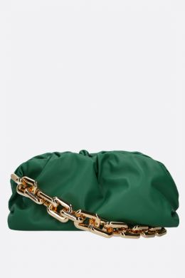 The Chain Pouch smooth leather clutch