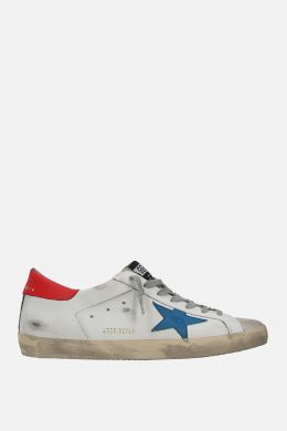 GOLDEN GOOSE DELUXE BRAND: Superstar sneakers in smooth leather and suede Color White