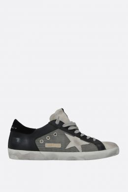 GOLDEN GOOSE DELUXE BRAND: sneaker Superstar in pelle e mesh Colore Nero