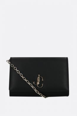 Varenne smooth leather chain clutch