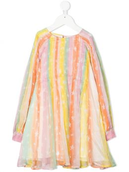 STELLA McCARTNEY KIDS: abito Rainbow in seta Colore Multicolore