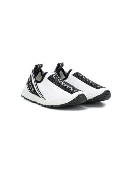 DOLCE & GABBANA CHILDREN: Sorrento sneakers in stretch knit Color White