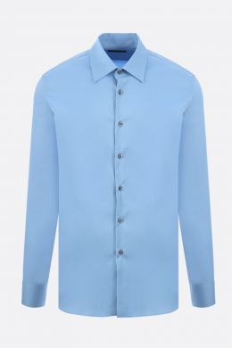 PRADA: camicia regular-fit in popeline stretch Colore Blu
