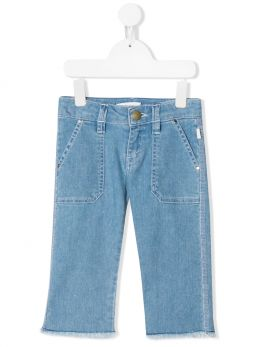 CHLOÈ KIDS: slim-fit jeans Color Blue
