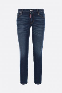 DSQUARED2: jeans cropped Twiggy Colore Blu