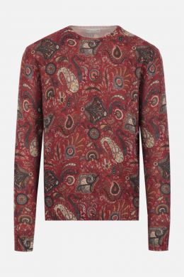 ETRO: Paisley pattern wool pullover Color Multicolor