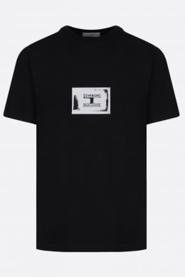 GIVENCHY: t-shirt in cotone patch Givenchy Studio Homme Colore Nero