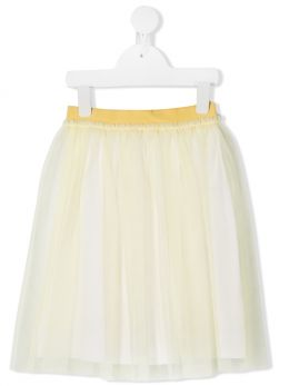 IL GUFO: tulle skirt Color Yellow