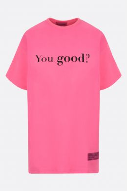 IRENEISGOOD: t-shirt You Good / I'm Good in cotone Colore Rosso