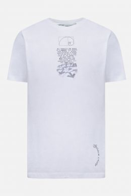 OFF WHITE: Dripping Arrows cotton t-shirt Color Black