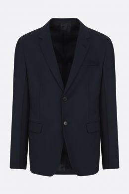 wool mohair blend single-breasted jacket