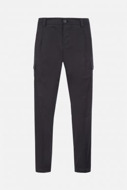 PRADA: stretch cotton cargo pants Color Black