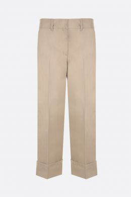 PRADA: straight-fit cotton pants Color Brown