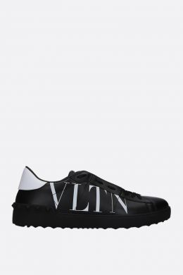 VALENTINO GARAVANI: Open VLTN sneakers in smooth leather Color Black
