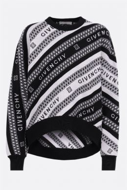 GIVENCHY: pullover Givenchy Chaine in lana Colore Nero