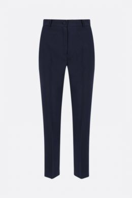 HEBE STUDIO: pantalone LouLou in cady Colore Blu