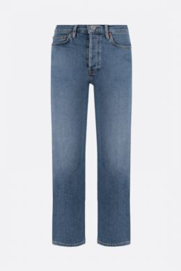 RE/DONE: jeans cropped Stove Pipe Colore Blu