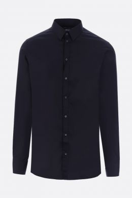 DOLCE & GABBANA: stretch poplin gold-fit shirt Color Black