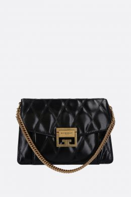 small GV3 shoulder bag in quilted leather