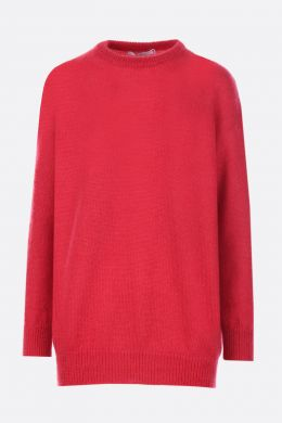 MAX MARA: Relax pullover in mohair blend Color Red