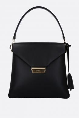smooth leather top handle bag