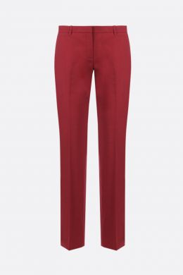 THEORY: pantalone slim-fit in lana stretch Colore Marrone