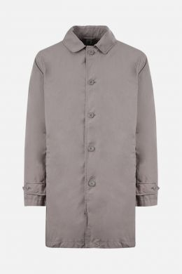 ASPESI: Vodka technical fabric single-breasted overcoat Color Grey