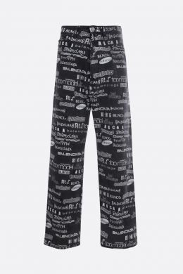 BALENCIAGA: jeans baggy-fit stampa TV Show Colore Nero