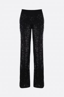 BALMAIN: pantalone straight-fit in paillettes Colore Nero