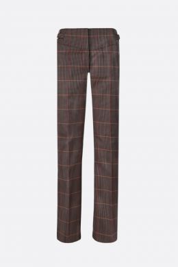 BURBERRY: pantalone Lovisa in misto lana principe di Galles Colore Marrone