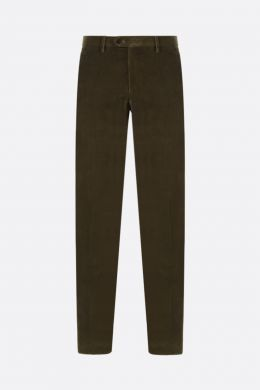 ETRO: pantalone slim-fit in velluto a costine Colore Verde