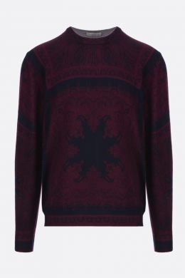 ETRO: Paisley print wool pullover
