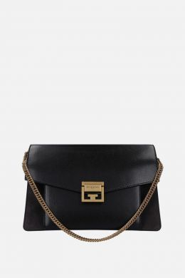 GV3 small grainy leather and suede handbag