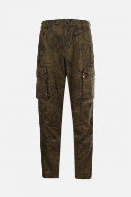 GIVENCHY: pantalone cargo in cotone stampa Astral Colore Verde