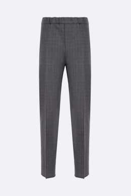 GIVENCHY: pantalone jogging slim-fit in lana bicolore Colore Nero