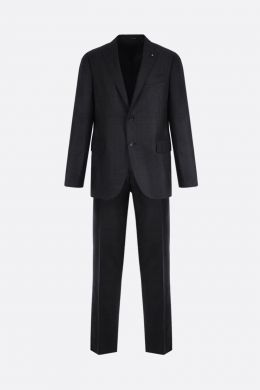 check wool two-pieces suit