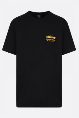 STUSSY: t-shirt Windflower in cotone Colore Nero