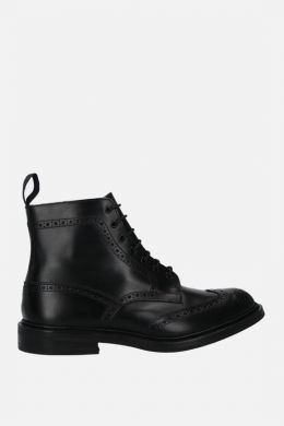 Stow shiny leather country boots