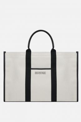borsa tote Hardware large in canvas