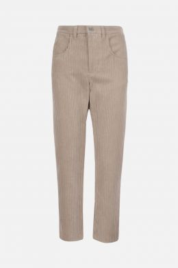 ISABEL MARANT ETOILE: pantalone cropped Beldenae in velluto a costine Colore Neutro