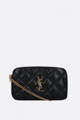 Becky quilted nappa chain wallet